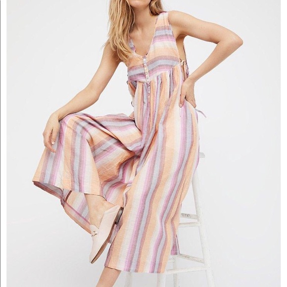 2d42ef4c6b6d Free People Pants - Free People Striped Jumpsuit
